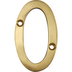 Brass Numeral 75mm 0