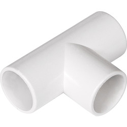 Solvent Weld Overflow Tee 21.5mm White
