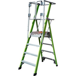 Little Giant Little Giant Safety Cage Fibreglass Podium Step 4 Tread SWH 2.74m - 18130 - from Toolstation
