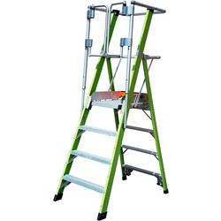 Little Giant Little Giant Safety Cage Fibreglass Podium Step 8 Tread SWH 3.88m - 18137 - from Toolstation