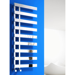 Reina Florina Towel Radiator 800 x 500mm Chrome 1526Btu - 18194 - from Toolstation