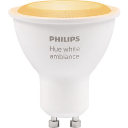 Philips Hue Philips Hue White Ambiance GU10 Lamp 5.5W 250lm - 18294 - from Toolstation