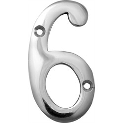 Chrome Numeral 75mm 6, 9 - 18295 - from Toolstation