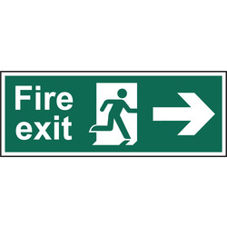 Fire Safety Sign Fire Exit Right 400x150 - 18440 - from Toolstation