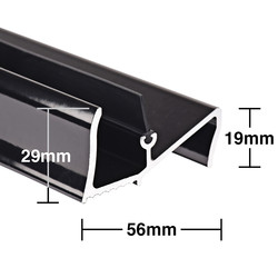 Stormguard Stormguard Lowline Rain & Draught Excluder Threshold Black 914mm - 18581 - from Toolstation