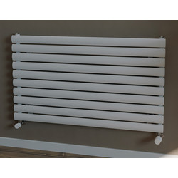 Ximax Ximax Bristol Single Horizontal Designer Radiator 584 x 1000mm 2251Btu White - 18590 - from Toolstation