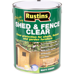 Rustins Rustins Quick Dry Shed & Fence Clear Protector 5L - 18602 - from Toolstation