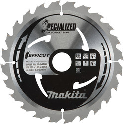 Makita Makita Efficut TCT Saw Blade 190 x 30 x 24T - 18613 - from Toolstation
