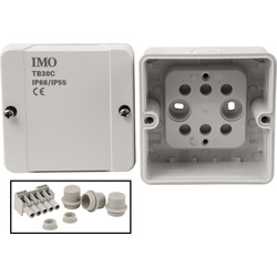 IMO IP66 Junction Box 88 x 88 x 53mm - 18656 - from Toolstation