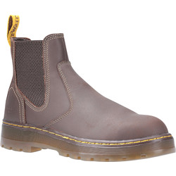 Dr Martens Dr Martens Eaves Safety Dealer Boots Brown Size 11 - 18657 - from Toolstation
