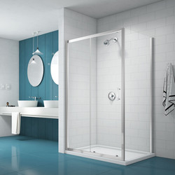 Merlyn Nix Merlyn NIX Sliding Shower Enclosure Door and Side Panel 1000 x 800mm - 18721 - from Toolstation