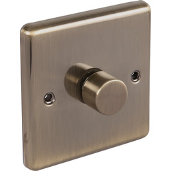 Wessex Electrical Antique Brass Dimmer Switch 1 Gang 400W - 18777 - from Toolstation