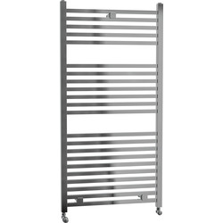 Cassellie Lindley Straight Designer Radiator 1110 x 500mm Chrome 1365Btu - 18800 - from Toolstation