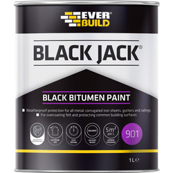 Everbuild Black Bituminous Paint 1L - 18859 - from Toolstation