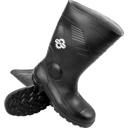 ProMan PVC Safety Wellington Boots Size 10 - 18868 - from Toolstation