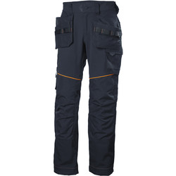 "Helly Hansen Helly Hansen Chelsea Evolution Construction Trousers 32"" R Navy - 18898 - from Toolstation"