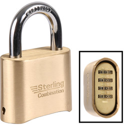 Sterling Sterling Combination Padlock 50 x 8 x 26.8mm - 18963 - from Toolstation