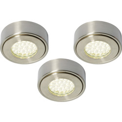 Culina Laghetto 240V LED Round Under Cupboard Light 3 x 1.5W 140lm lights - 18997 - from Toolstation
