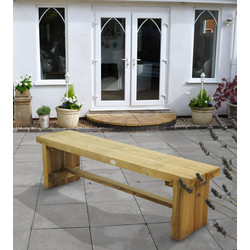 Forest Forest Garden Double Sleeper Bench 45cm (h) x 150cm (w) x 35cm (d) - 19055 - from Toolstation