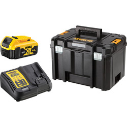 DeWalt DeWalt 18V T-STAK 5.0Ah Battery Starter Kit 1 x 5.0Ah - 19160 - from Toolstation