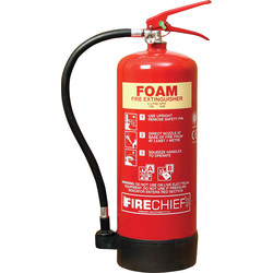 Fire Chief Firechief Foam Fire Extinguisher 6L Rating 21A 144B - 19194 - from Toolstation