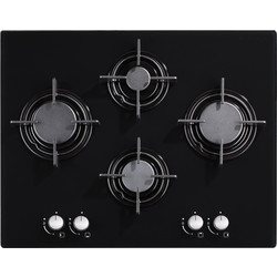 Culina 60cm Black Glass Gas Hob