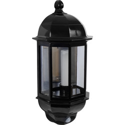 P-Lux 8W LED Photocell & PIR Half Lantern Black - 19276 - from Toolstation