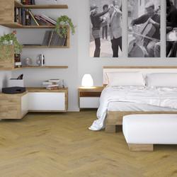 Maximus Provectus Rigid Core Flooring - Carvo Herringbone