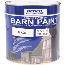 Bedec Bedec Barn Paint Satin Black 2.5L - 19339 - from Toolstation