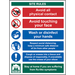 Centurion Social Distancing & Hygiene Site Safety Sign 400 x 300mm - 19371 - from Toolstation