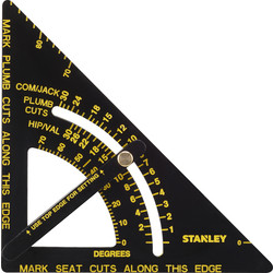 "Stanley Stanley Adjustable Quick Square 6¾"" (170mm) - 19400 - from Toolstation"