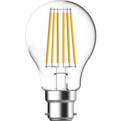 Energetic Lighting Energetic LED Filament Clear GLS Dimmable Lamp 5.1W BC 470lm - 19462 - from Toolstation