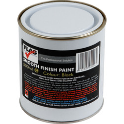 Flag Smooth Finish Metal Paint 500ml Black - 19471 - from Toolstation