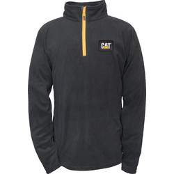 CAT Caterpillar Half Zip Micro Fleece Large Black - 19580 - from Toolstation
