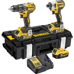 DeWalt DeWalt DCK266P3-GB 18V XR Brushless Combi Drill & Impact Driver Twin Pack 3 x 5.0Ah - 19622 - from Toolstation