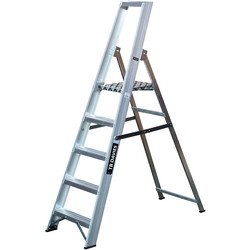 TB Davies TB Davies Industrial Platform Step Ladder 5 Tread SWH 2.7m - 19691 - from Toolstation