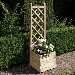 Rowlinson Rowlinson Square Planter & Lattice 140cm (h) x 40cm (w) x 40cm (d) - 19721 - from Toolstation