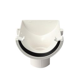 112mm Half Round Stopend Outlet
