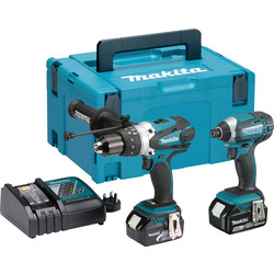 Makita Makita DLX2145TJ 18V LXT Combi Drill & Impact Driver Twin Kit 2 x 5.0Ah - 19850 - from Toolstation