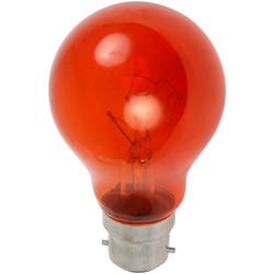 CED Fireglow Lamp FIR 60W BC (B22d) - 19851 - from Toolstation