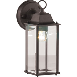Zinc Bevelled IP23 Glass Lantern Black - 19868 - from Toolstation