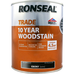 Ronseal Ronseal 10 Year Exterior Satin Woodstain 750ml Ebony - 19927 - from Toolstation