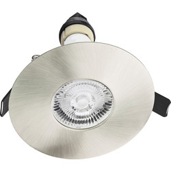 Integral LED Integral LED 70-100mm Cut Out Evofire IP65 Fire Rated Downlight Satin Nickel - 20039 - from Toolstation