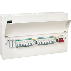 Crabtree Loadstar Crabtree Loadstar Metal Consumer Unit 15 Way + 12 MCBs  - 20103 - from Toolstation