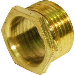 Unbranded Brass Bush Male Short 20mm - 20211 - from Toolstation