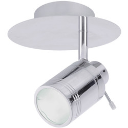 Spa Lighting Bora IP44 GU10 LED Single Spot Light 1 x 4W 330lm - 20411 - from Toolstation