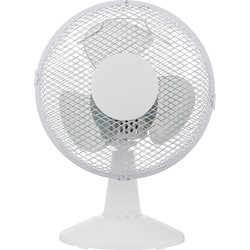 "Unbranded Desk Fan 9"" 2 Speed 25W - 20518 - from Toolstation"