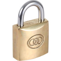 Tri Circle Tri-Circle Brass Padlock 20 x 3.3 x 10mm - 20595 - from Toolstation