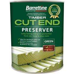 Barrettine Cut End Wood Preserver 1L - 20613 - from Toolstation