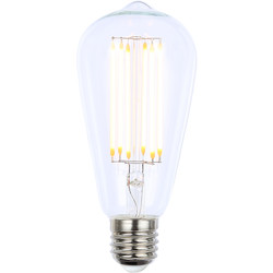 Inlight Vintage LED Filament ST64 Bulb Lamp 6W ES 650lm Clear - 20707 - from Toolstation